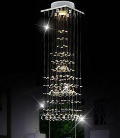 Modern Contemporary Luxuriant K9 Crystal Pendant Light Flush Mount Chandeliers  #Unbranded #ArtsCraftsMissionStyle