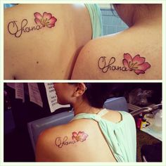Ohana means family. Family means no body gets left behind, or forgotten. Matching tattoos :D