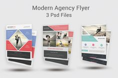 Modern Agency Flyer Templates by DeviserWeb on @creativework247