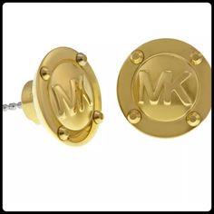 ✨ Micheal Kors Gold Stud Earrings✨ Brand new. Gorgeous.. Comes with pouch bag and box. Michael Kors Jewelry Earrings