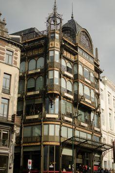 Art Nouveau design prevalent in Brussels Belgium