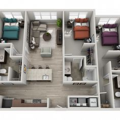 303 Flats offers 8 floor plan options ranging from 1 to 4 Bedrooms Sims House Plans, House Layout Plans, Small House Plans, House Layouts, House Floor Plans, Room Layouts, Home Design Floor Plans, Home Building Design, Sims 4 House Design