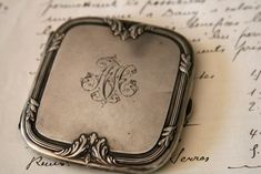 We found the treasured silver box tucked safely in her drawer. He had had it engraved just for her.........P