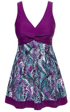 Amazon.com: Viva Rose Women's One-Piece Floral Vintage Plus Size Swimdress Swimwear: Clothing