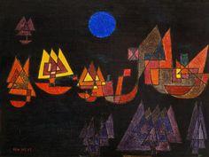 Paul Klee - Navires dans l'obscurité
