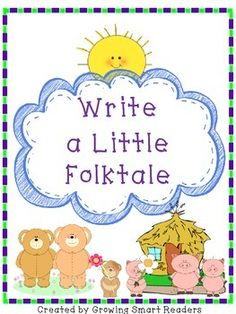 FREE! Easy writing opportunity to write a little folktale--or a folktale-ish narrative. Scaffolds hesitant writers.