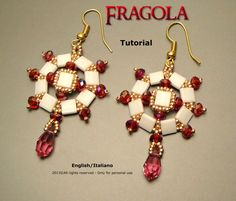 Tutorial Strawberry Earrings-beading pattern by FucsiaStyle