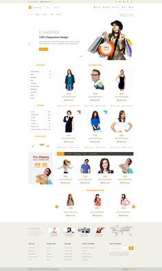 E-Shopper is one of the best free ecommerce html templates around. This 100% responsive template is powered by bootstrap 3. 11 Ready pages is the main feature of this template. This template suitable for any static or dynamic websites. Anyone can easily implement this template into their ecommerce system like woocommerce, magento or virtuemart.