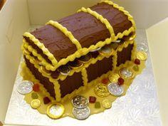 treasure chest cake - Google Search