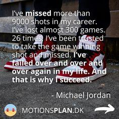 Jeg falder ofte over et inspirerende og motiverende træningscitater og har samlet en masse citater om træning og træningsmotivation her. Tjek dem ud - og måske har du selv et citat, du er faldet for og gerne vil supplere med.. Her er citat med Michale Jordan. #træningsmotivation #træningscitater #citater 300 Game, Rocky Balboa, Muhammad Ali, Arnold Schwarzenegger, Michael Jordan, Mantra, Jordans, My Life, Career