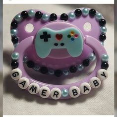"""""""gamer baby"""" adult pacifier ABDL DDLG MDLG DDLB MDLB deco paci"""