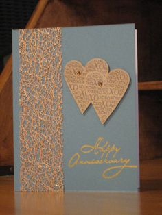 """""""And the two shall become one""""  Handmade Anniversary card."""