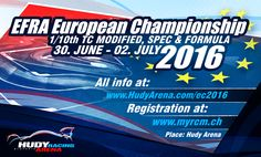 Official web page for European Championship 1/10 TC & formula ONLINE AT: http://www.hudyarena.com/ec2016