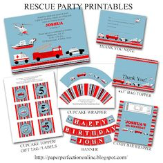 the only invites i found with police, ambulance and fire engine