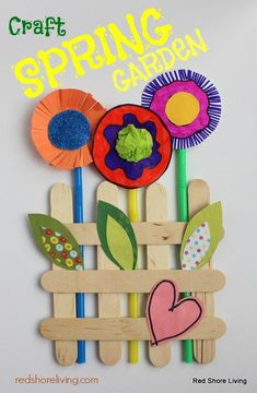 Spring Garden Popsicle Stick Craft - Red Shore Living