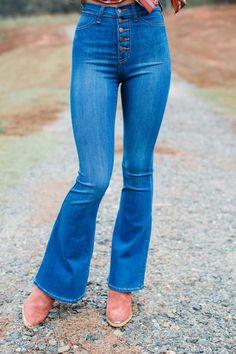 Buttoned Up High Waist Jeans