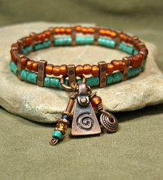 Turquoise Bracelet by StoneWearDesigns
