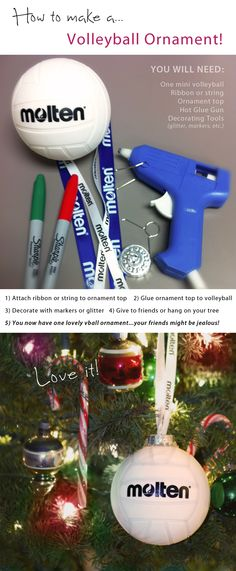 How to make a volleyball ornament! #volleyball