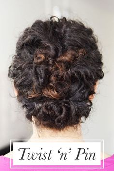 Twist small sections of your hair and pin them up until you've got this lovely updo. | 17 Incredibly Pretty Styles For Naturally Curly Hair