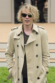 Jamie Campbell Bower at Burberry in London gateway.