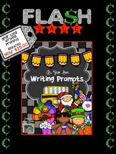 Keep your students on the WRITE track all year!! Take advantage of this FLASH SALE! #teachersfollowteachers #teacherspayteachers #tpt #iteachtoo #teachers #education #learning #writing #homeschooling #homeschooled #homeschooler
