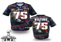 New England Patriots #75 Vince Wilfork 2015 Super Bowl XLIX Fanatic Fashion Elite Jersey