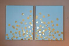 DIY Canvas Confetti » Coco Belle Photography... white large canvas with silver confetti for living room art.