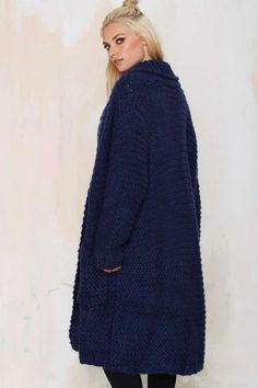 Hand Knit Duster Cardigan