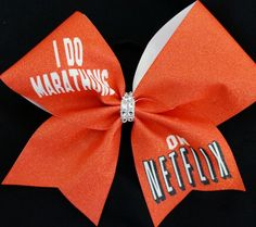 I Do Marathons On Netflix Cheer Bow