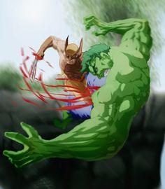 #Hulk #Fan #Art. (The Hulk vs Wolverine) By:ThatSanj. (THE * 3 * STÅR * ÅWARD OF: AW YEAH, IT'S MAJOR ÅWESOMENESS!!!™)[THANK Ü 4 PINNING!!!<·><]<©>ÅÅÅ+(OB4E)    https://s-media-cache-ak0.pinimg.com/474x/d7/fd/59/d7fd59388b3bd57cf6d9e5e630b070b5.jpg