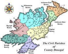 Civil Parishes and Townlands of County Donegal