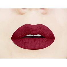 Red Dahlia Matte Liquid Lipstick. Dark. Vampy. Maroon. Vegan. ❤ liked on Polyvore featuring beauty products, makeup, lip makeup, lipstick, paraben-free lipstick, wet look lipstick, gloss lipstick, shiny lipstick and lip gloss makeup