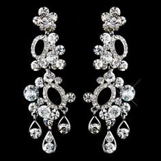 Antique Silver Clear Rhinestone Earrings by MoonlitBridals on Etsy, $49.99 Rhinestone Earrings, Diamond Earrings, Holiday Nights, Antique Silver, Antiques, Trending Outfits, Unique Jewelry, Handmade Gifts, Etsy