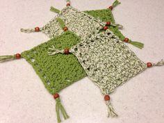 Beaded Coaster Set - Crochet