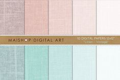Digital Paper Linen  Vintage by MaishopDigitalArt on Etsy, $2.50