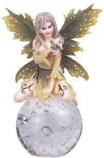 FROG Fairy Crystal Ball Pixie Fantasy Figurine