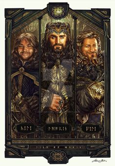 Cool Art: 'Line of Durin' by Adriana Melo —- Tolkien definitely took inspiration from Old Norse tunes for the dwarves writing, I love it all so freaking much Legolas, Le Hobbit Thorin, Fili Y Kili, Hobbit 3, The Hobbit Movies, Gandalf, Tauriel, Aragorn, Jrr Tolkien
