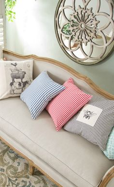 Joss And Main/ pillows gingham and stripes!!