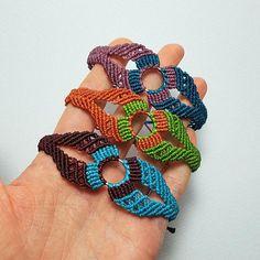Micromacrame Bracelet Geometric Boho Macrame Wristband