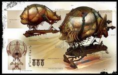 Exemple barge de transport entre colosses