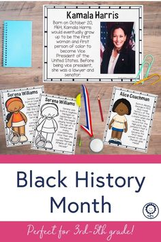 This pack has everything you need to teach your students about 31 important individuals during Black History Month. There are reading comprehension passages, quotes, hands-on timeline activities, brainstorming pages, and biography pages for EVERY person! I also added photograph pages with lines so that your students can write summaries or notes next to each person. There is also a digital version to meet your classroom needs! Perfect for third, fourth, and fifth grade! #blackhistorymonth