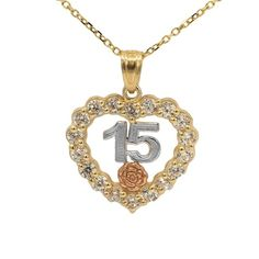 TrioStar 18k White Gold Plated 925 Silver E Initial Simulated Diamond Filigree Heart Pendant /& Necklace for Womens