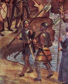 Juan de Borgoña: Conquista de Orán (1514). Detalle con infantes