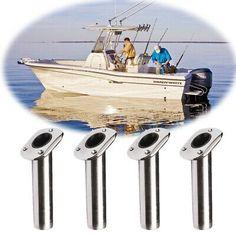 2x Marine 316 Stainless Steel Rod Holder Flush Mount Fishing Fixed Practical