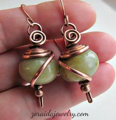 wire-wrapped beads
