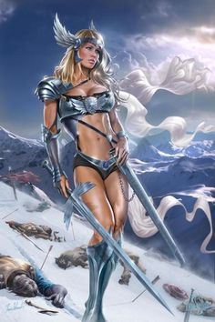 Ice cold fantasy woman