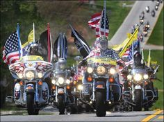Patriot Guard Riders escort a hero home to his final rest.