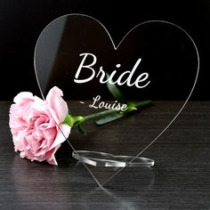 Personalised Acrylic Glass Name Hearts Vintage Wedding Top Table Place Cards Signs - Pretty Personalised Wedding Place Names, Wedding Places, Laser Cut Box, Laser Cutting, Wedding Top Table, Acrylic Wedding Invitations, Table Names, Father Of The Bride, Name Cards