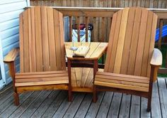 Double Adirondack Chairs - by RS Woodworks @ LumberJocks.com ~ woodworking community