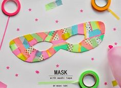 CARNEVALE - MASK WITH WASHI TAPE